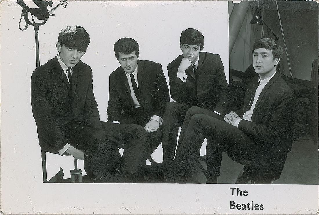 George Harrison Signed Beatles Promo Card - 2