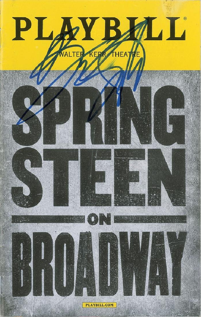 Bruce Springsteen Signed Playbill