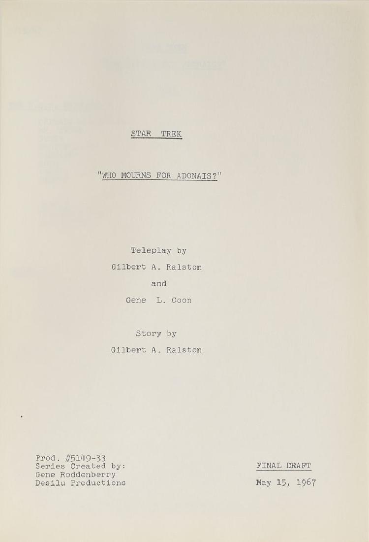 Original Star Trek Script - 2