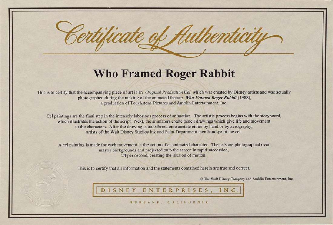 Roger Rabbit production cel from Who Framed Roger Rabbit? - 2