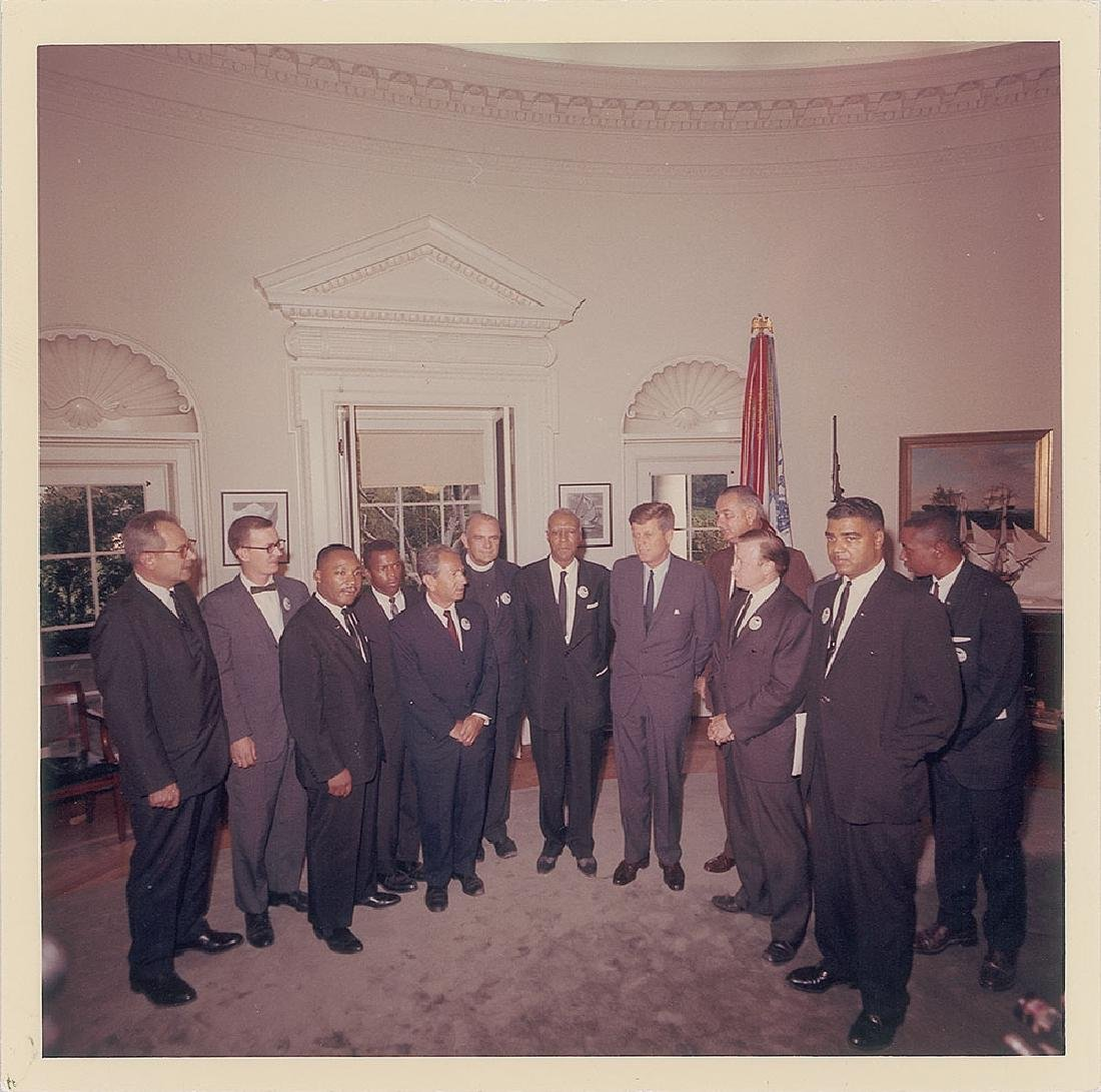 John F. Kennedy and Martin Luther King, Jr. Original Vintage Photograph by Cecil Stoughton