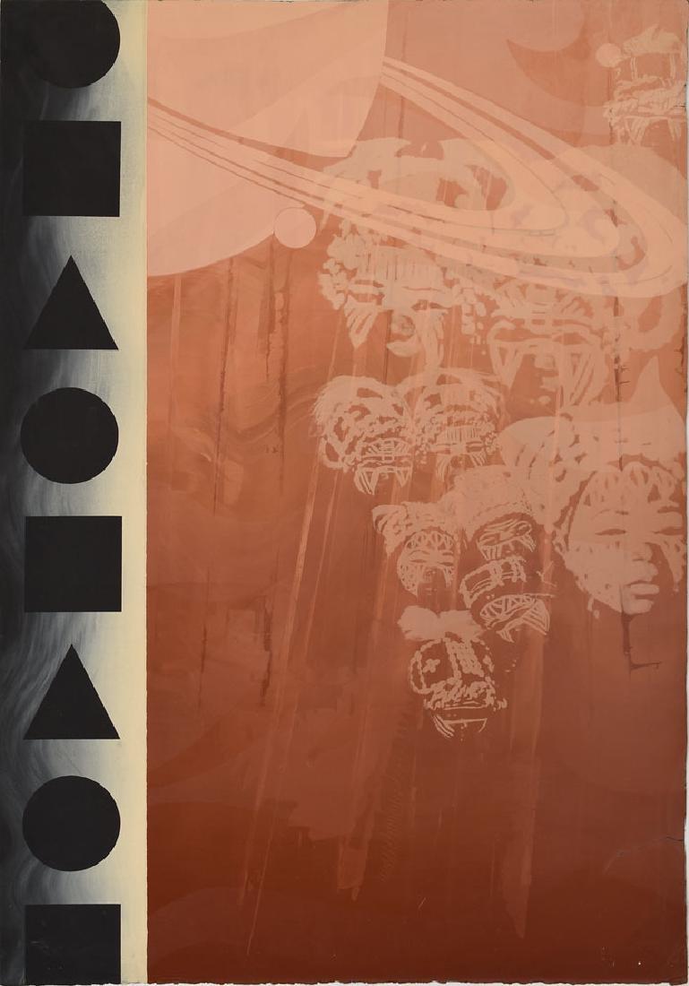 Peyton Scott Russell 'Saturn's Delta' Screenprint Diptych - 2