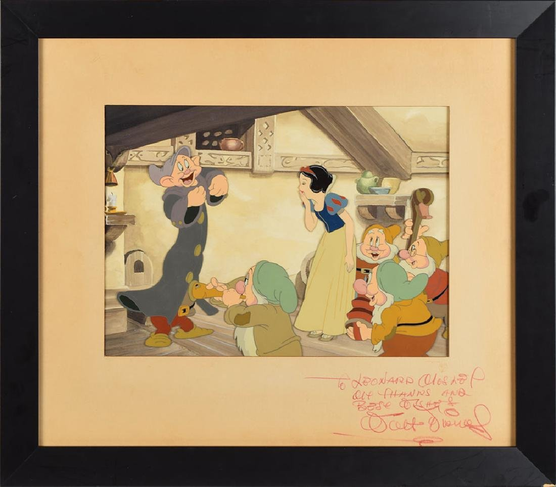 Walt Disney signed production cel from Snow White and the Seven Dwarfs