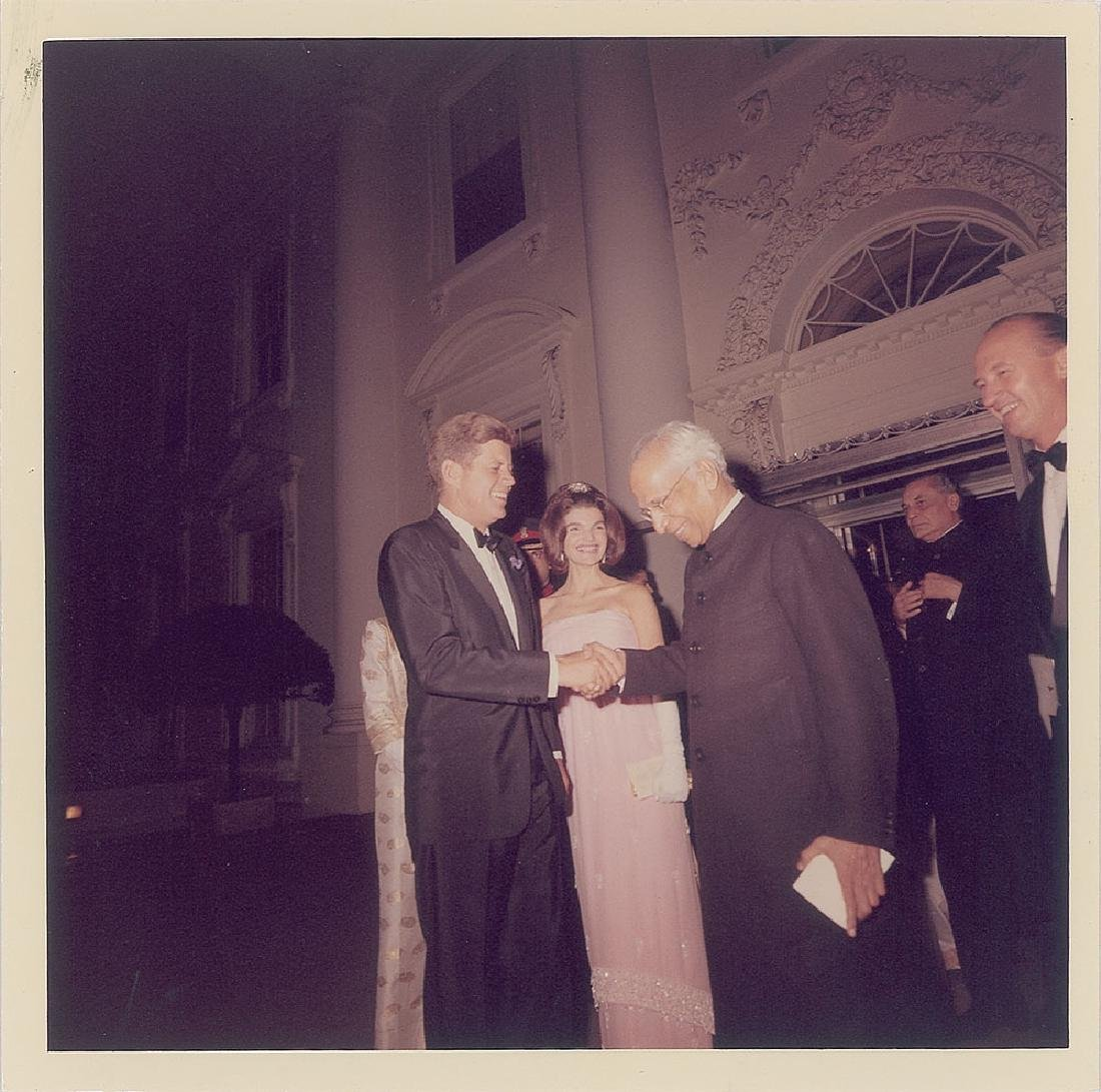 John F. Kennedy and Sarvepalli Radhakrishnan Original Vintage Photograph by Cecil Stoughton