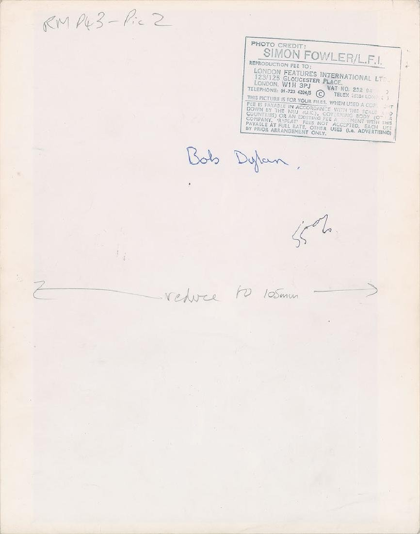 Bob Dylan Oversized Original Vintage Photograph - 2