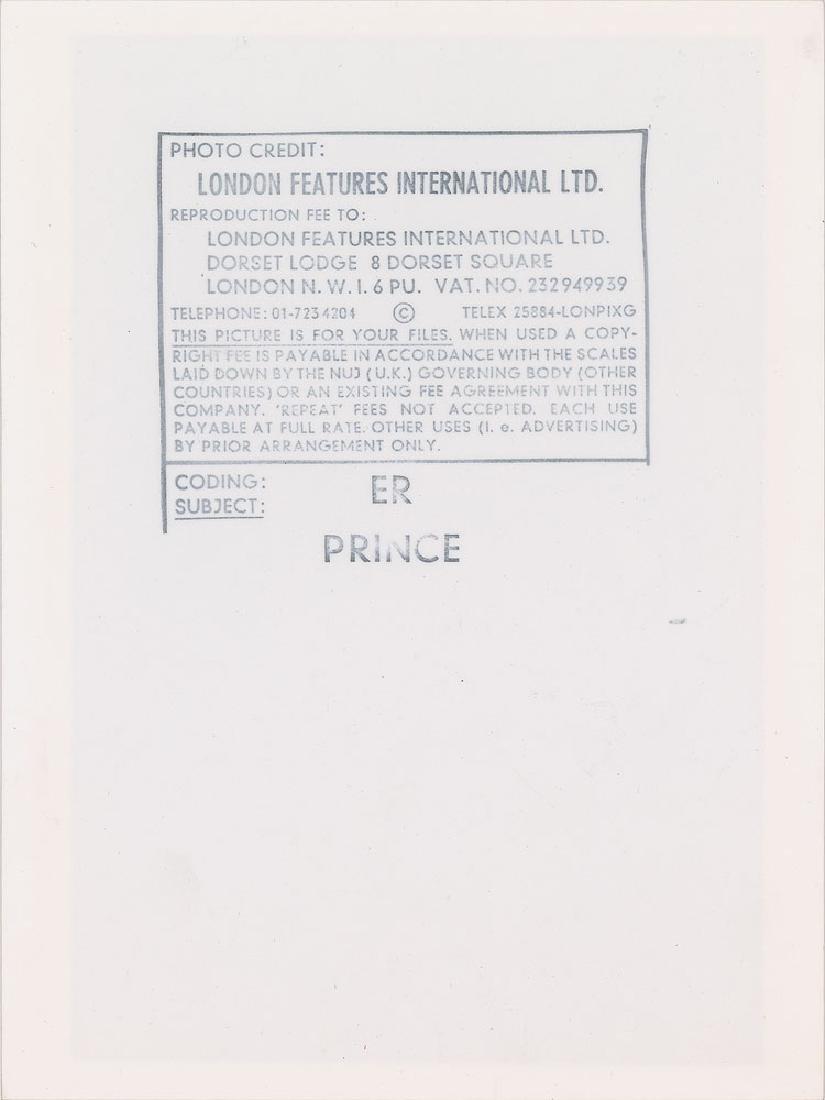 Prince 1981 Dirty Mind Tour Original Vintage Photograph - 2