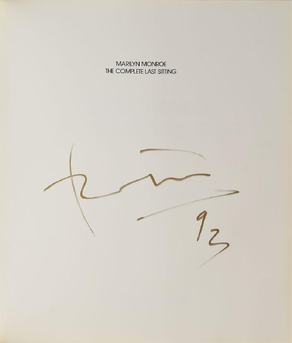 Bert Stern Signed Marilyn Monroe Book