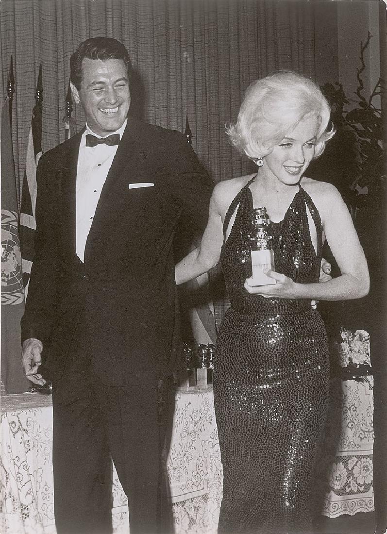 Marilyn Monroe and Rock Hudson Original Vintage Photograph