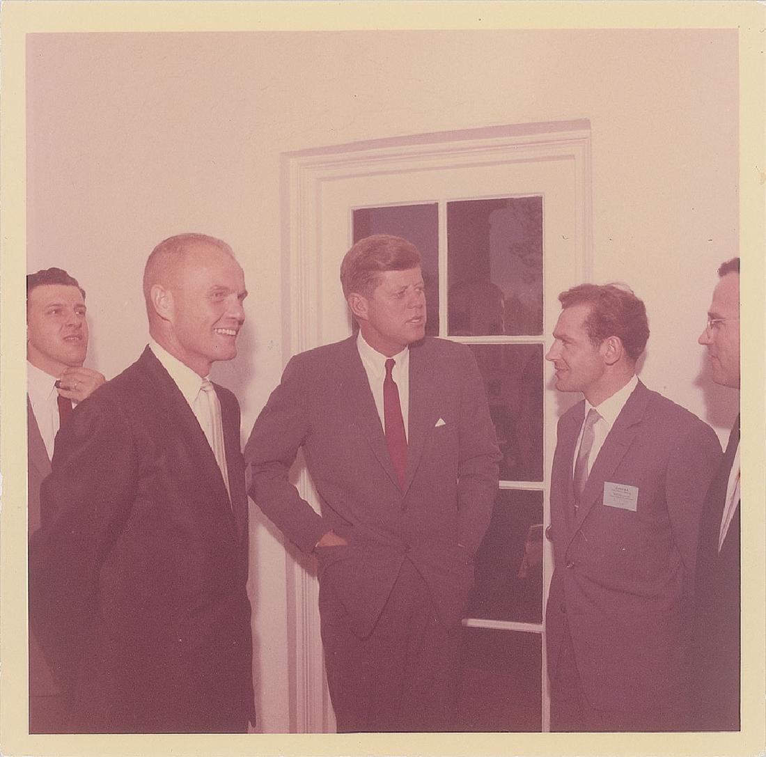 John F. Kennedy, John Glenn, and Gherman Titov Original Vintage Photograph by Cecil Stoughton
