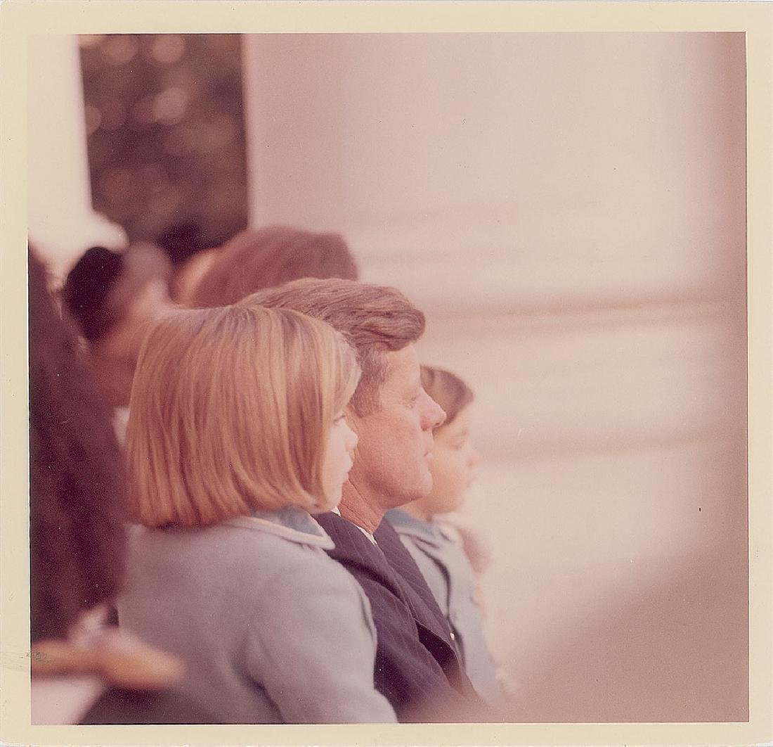 John F. Kennedy and Family Original Vintage Photograph by Cecil Stoughton