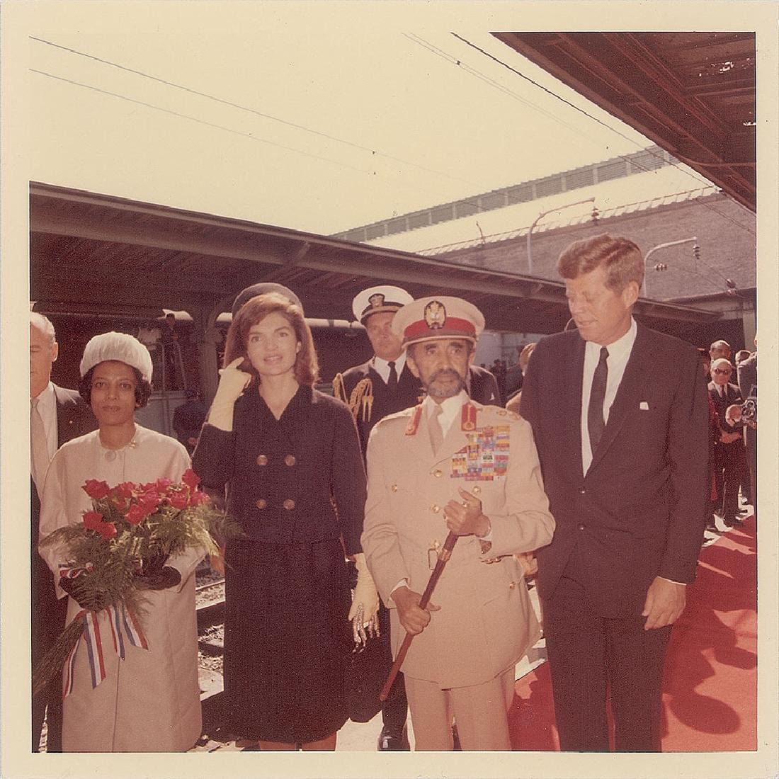John F. Kennedy and Haile Selassie Original Vintage Photograph by Cecil Stoughton