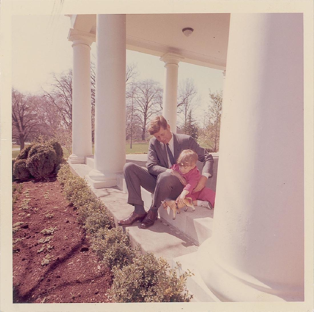 John F. Kennedy and John Jr. Original Vintage Photograph by Cecil Stoughton