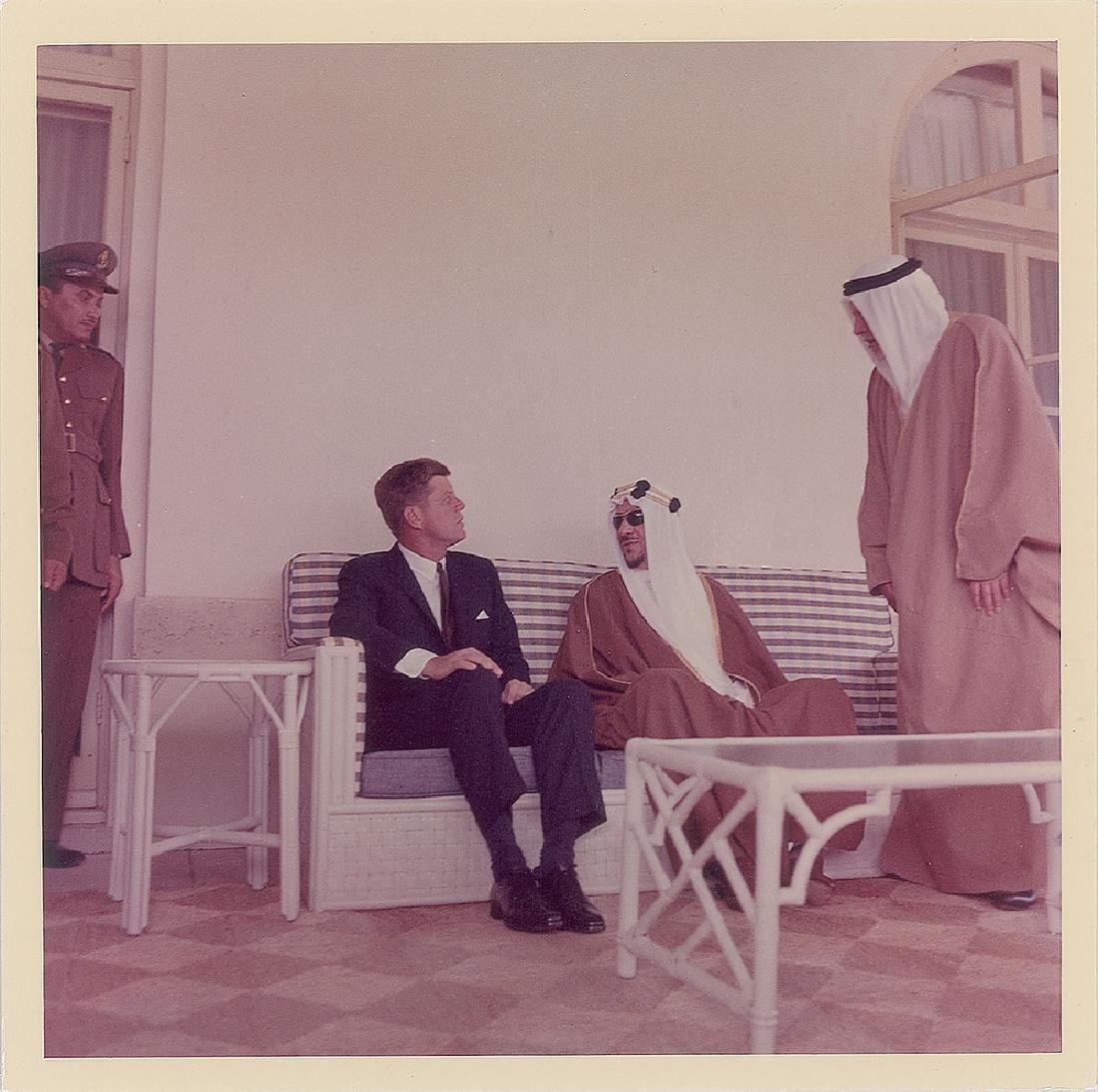John F. Kennedy and Saud bin Abdulaziz Original Vintage Photograph by Cecil Stoughton