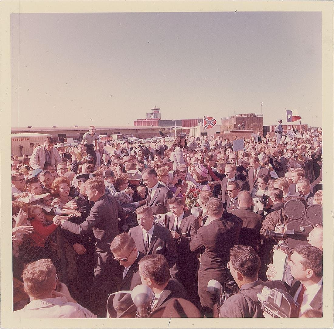 John F. Kennedy in Dallas Original Vintage Photograph by Cecil Stoughton