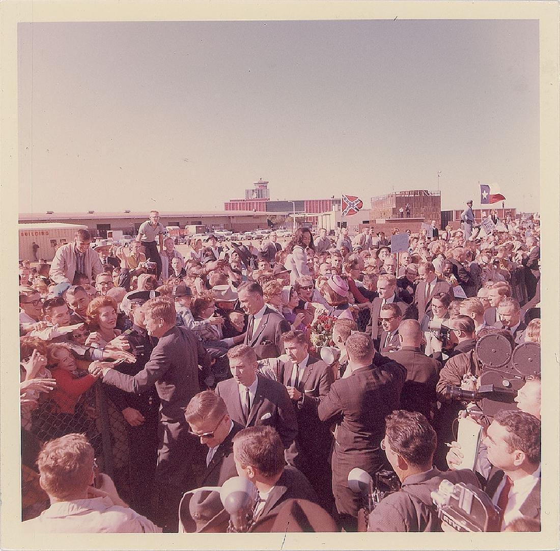 John F. Kennedy in Dallas Original Vintage Photograph by Cecil Stoughton