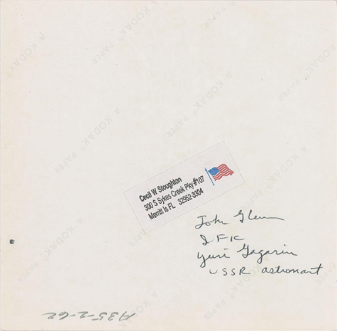 John F. Kennedy and Gordon Cooper Original Vintage Photograph by Cecil Stoughton - 2