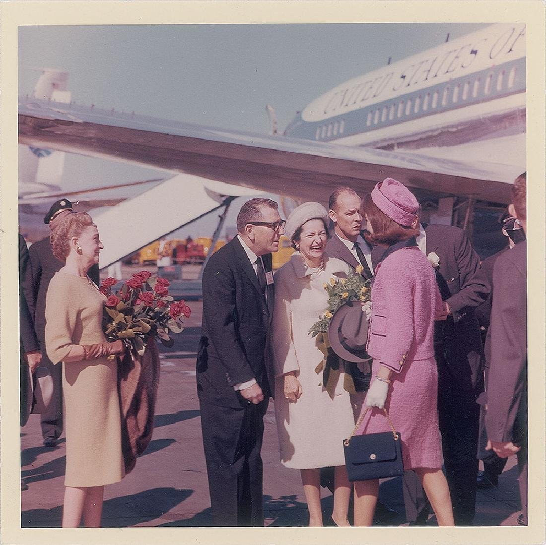 Jacqueline Kennedy and Lady Bird Johnson Original Vintage Photograph by Cecil Stoughton