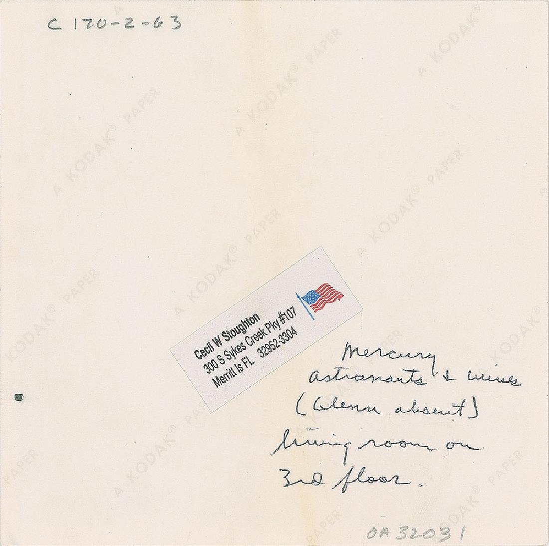 John F. Kennedy and Mercury Astronauts Original Vintage Photograph by Cecil Stoughton - 2