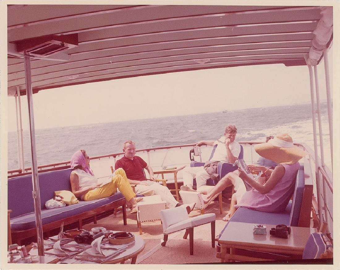 John F. Kennedy in Hyannis Original Vintage Photograph by Cecil Stoughton