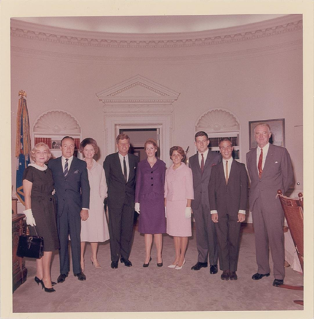 John F. Kennedy and Bob Hope Original Vintage Photograph by Cecil Stoughton