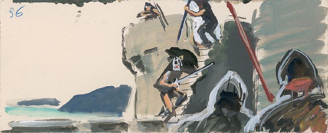 The Vikings Production Art Storyboard Paintings - 2