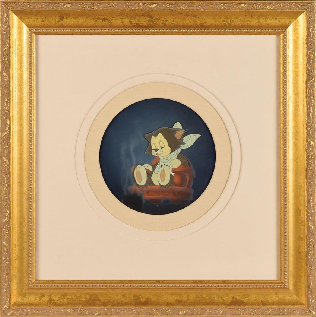 Figaro production cel from Pinocchio