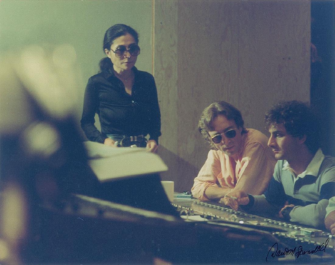 John Lennon and Yoko Ono Original Color Photograph