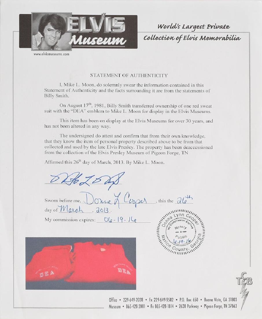 Elvis Presley's DEA Sweatsuit - 3