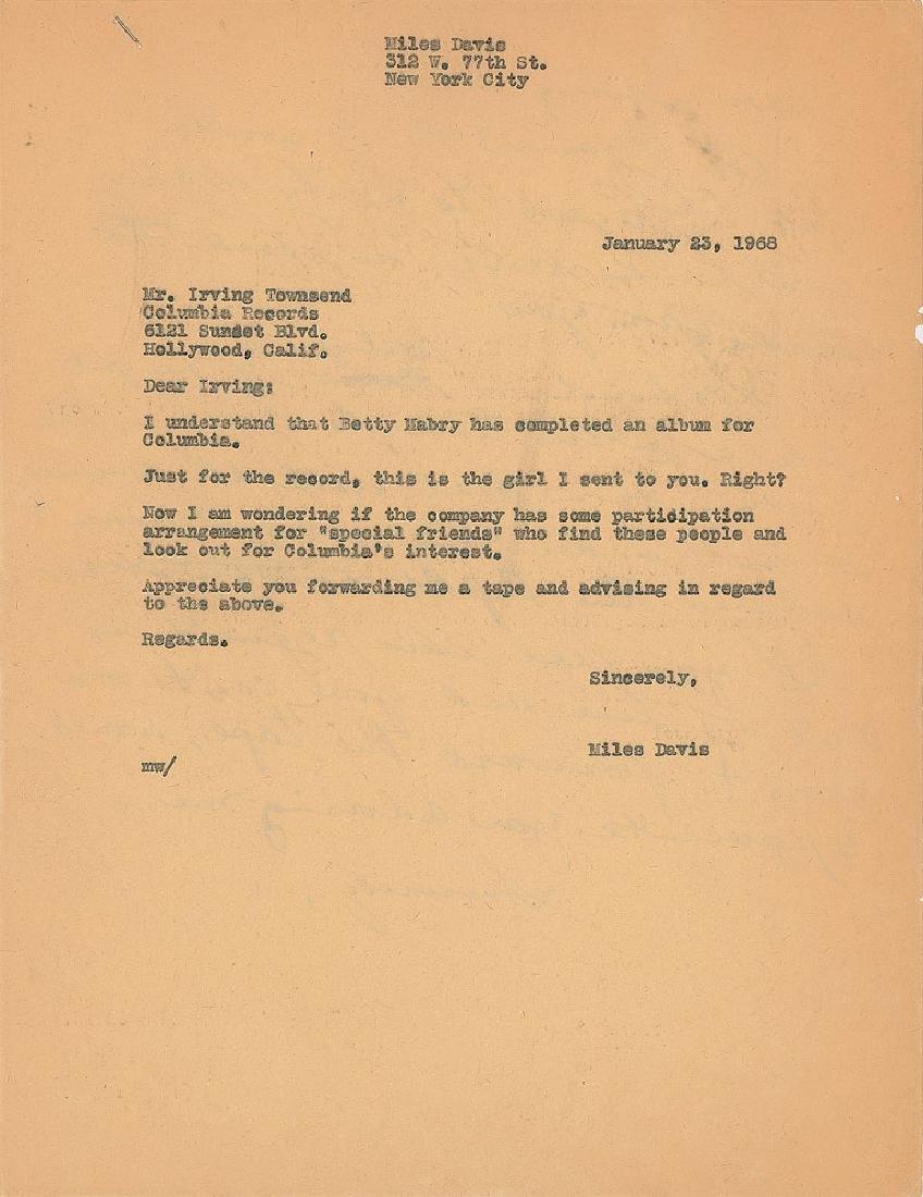 Miles Davis Handwritten Letter - 2