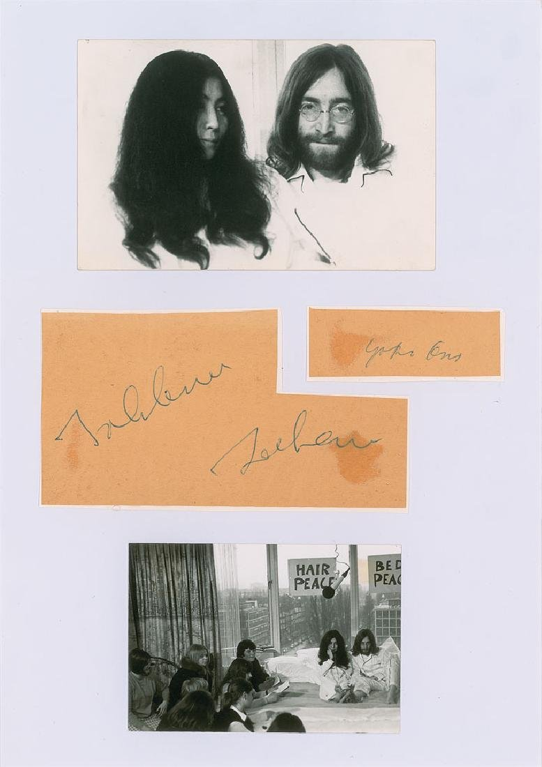 John Lennon and Yoko Ono Signatures