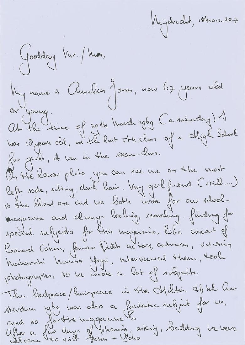 John Lennon and Yoko Ono Signatures - 2