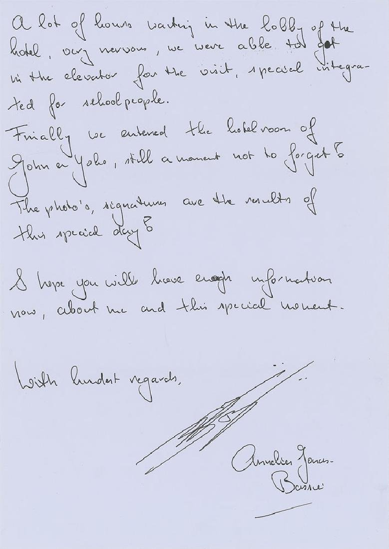 John Lennon and Yoko Ono Signatures - 3