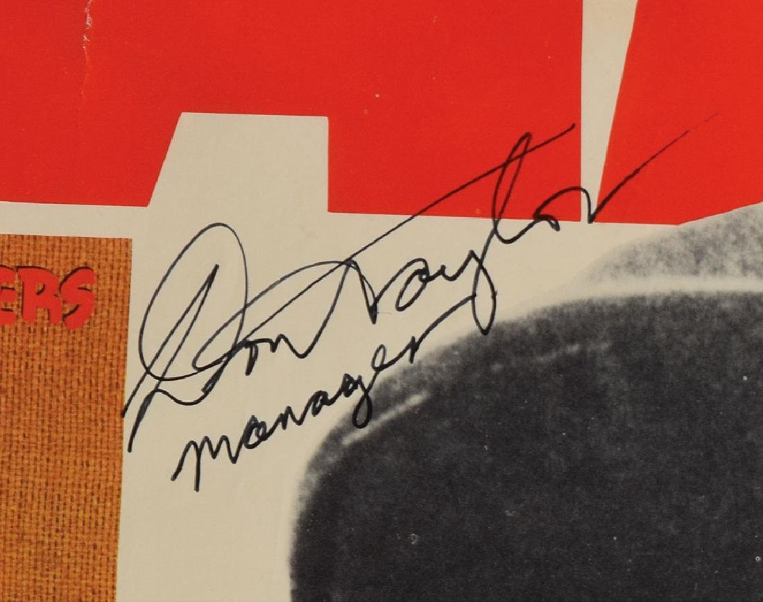 Bob Marley and The Wailers Signed 1976 Poster - 4