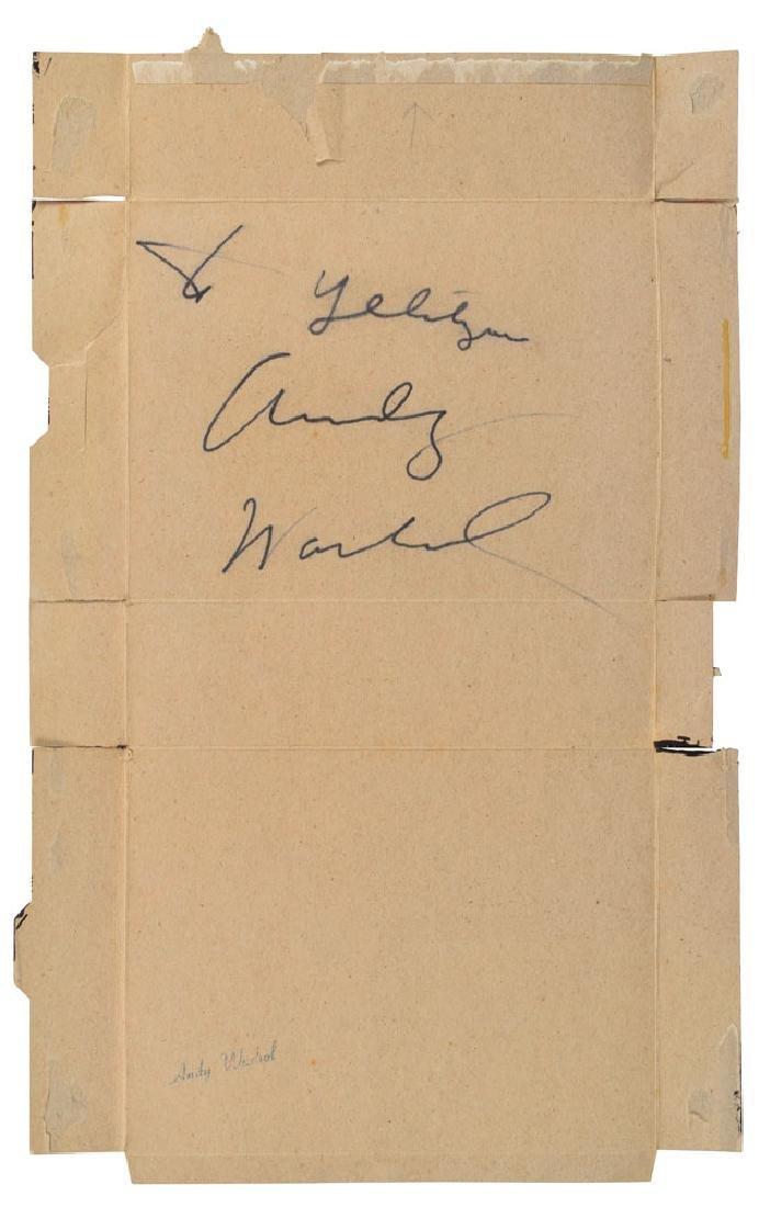 Andy Warhol Signed Original 'Cow' Screenprint on Kellogg's Cereal Box - 2