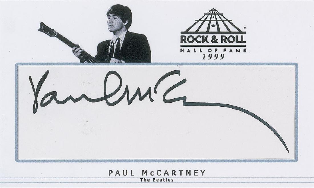 Beatles Set of (3) Signatures