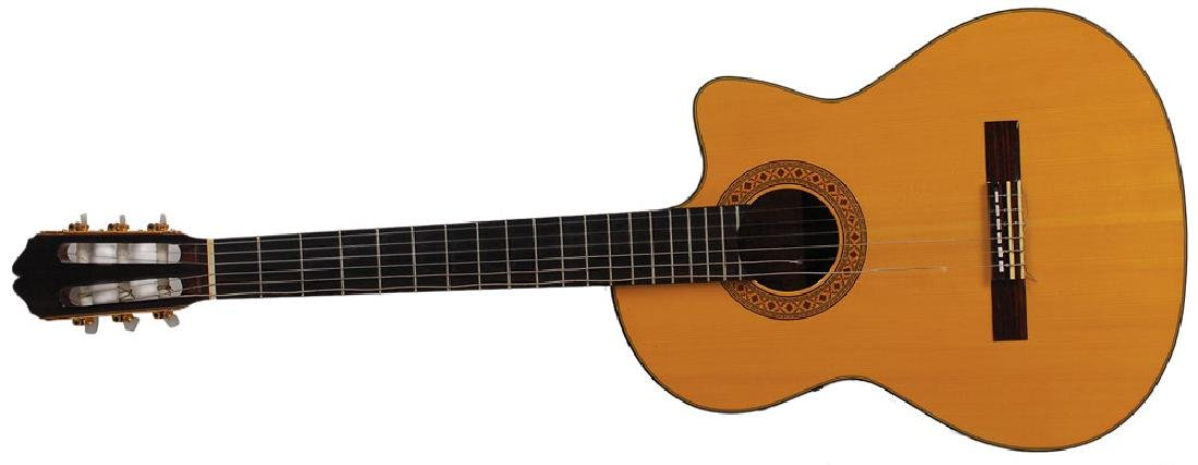 Carlos Santana's Stage and Studio-Used Acoustic Guitar