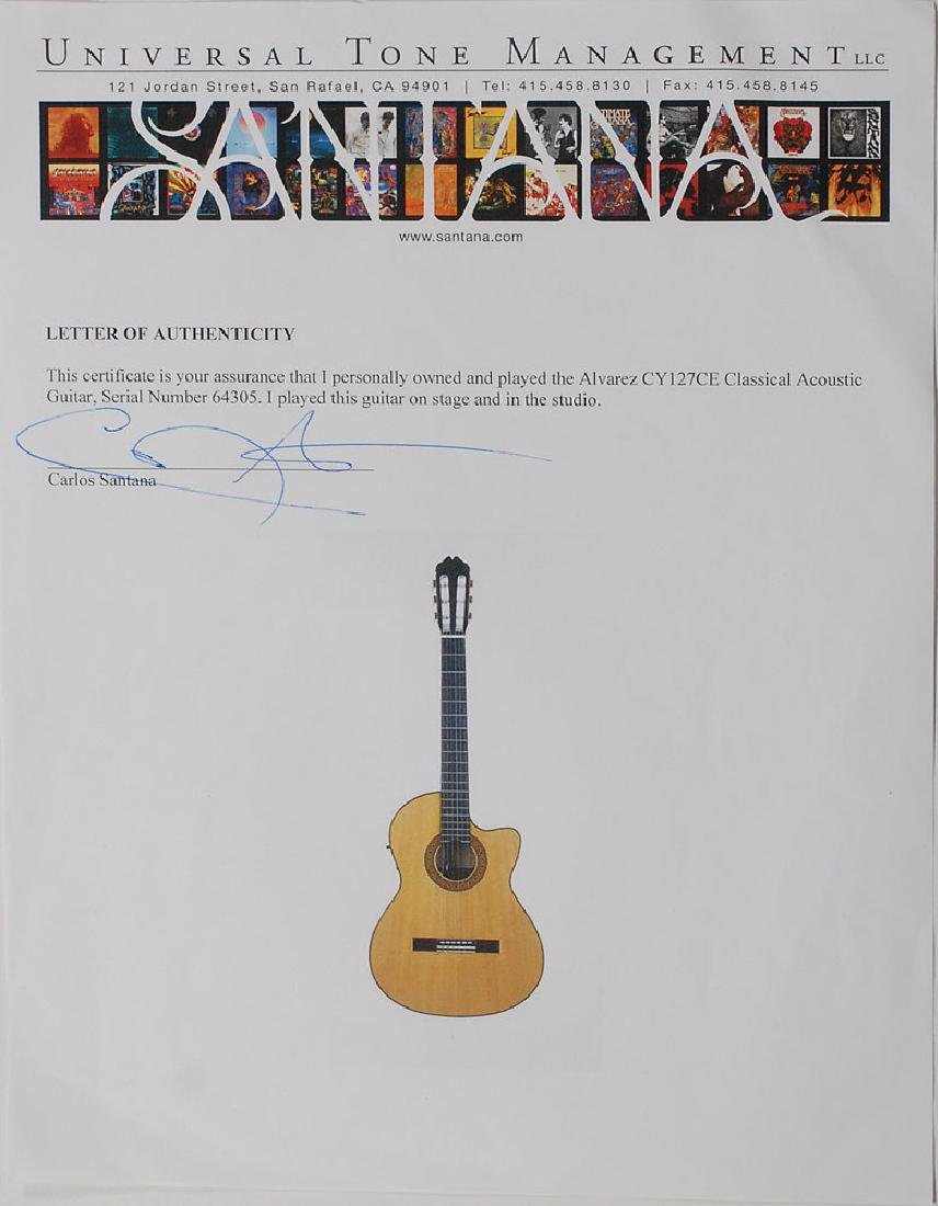 Carlos Santana's Stage and Studio-Used Acoustic Guitar - 3