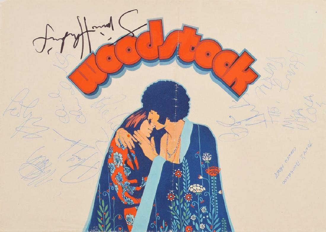 Jimi Hendrix, Canned Heat, and Ten Years After Signed Woodstock Poster - 3