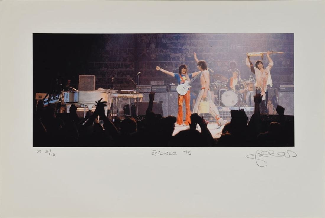 Rolling Stones Set of (5) Lithos Signed by John Rowlands