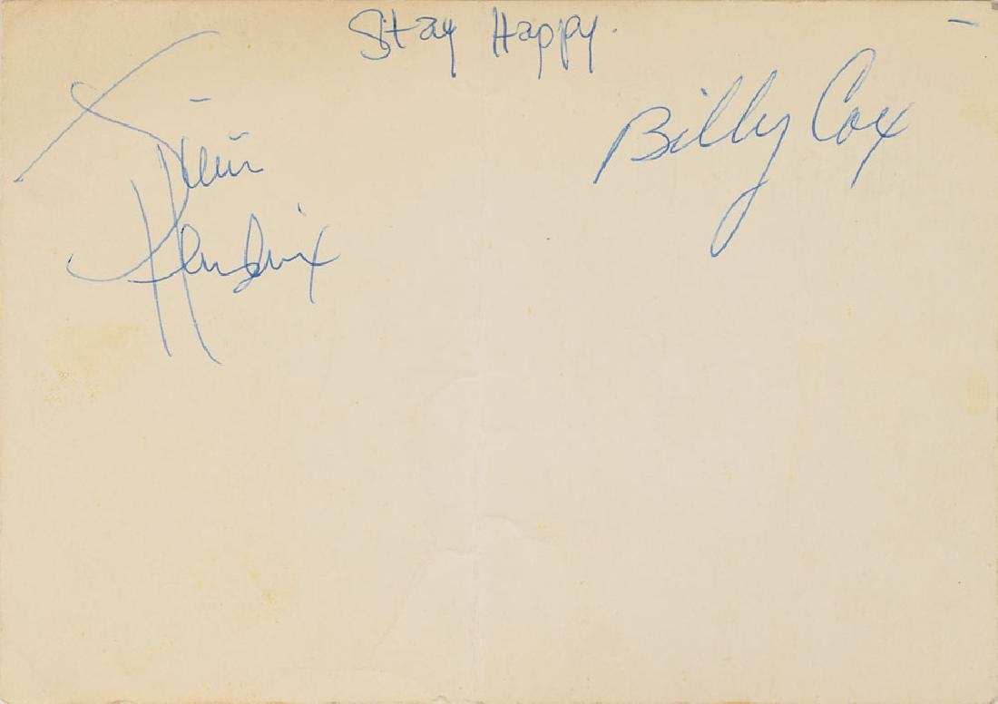 Jimi Hendrix Experience and Band of Gypsys Signatures