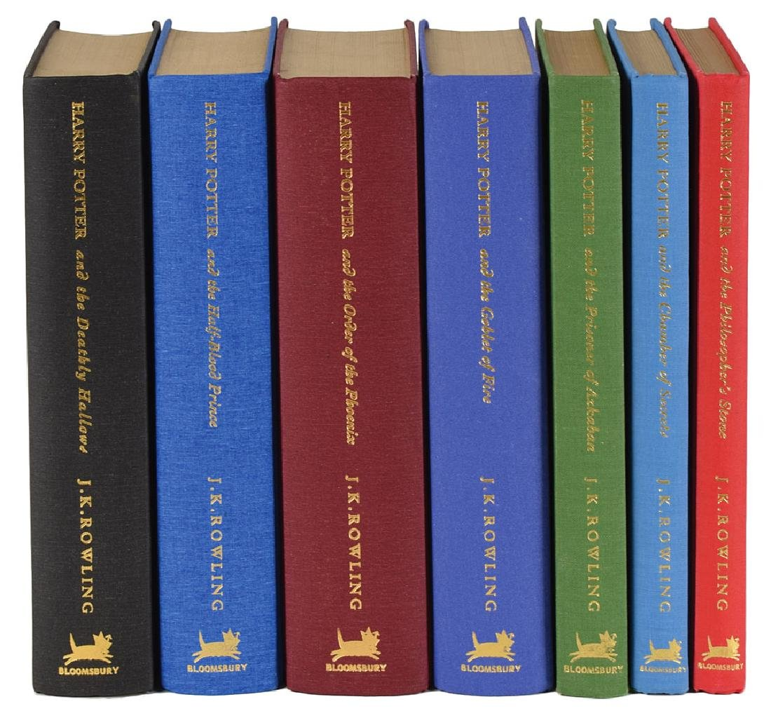 J. K. Rowling Signed Complete 'Harry Potter' Deluxe Book Set