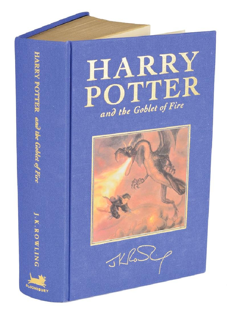 J. K. Rowling Signed Complete 'Harry Potter' Deluxe Book Set - 7