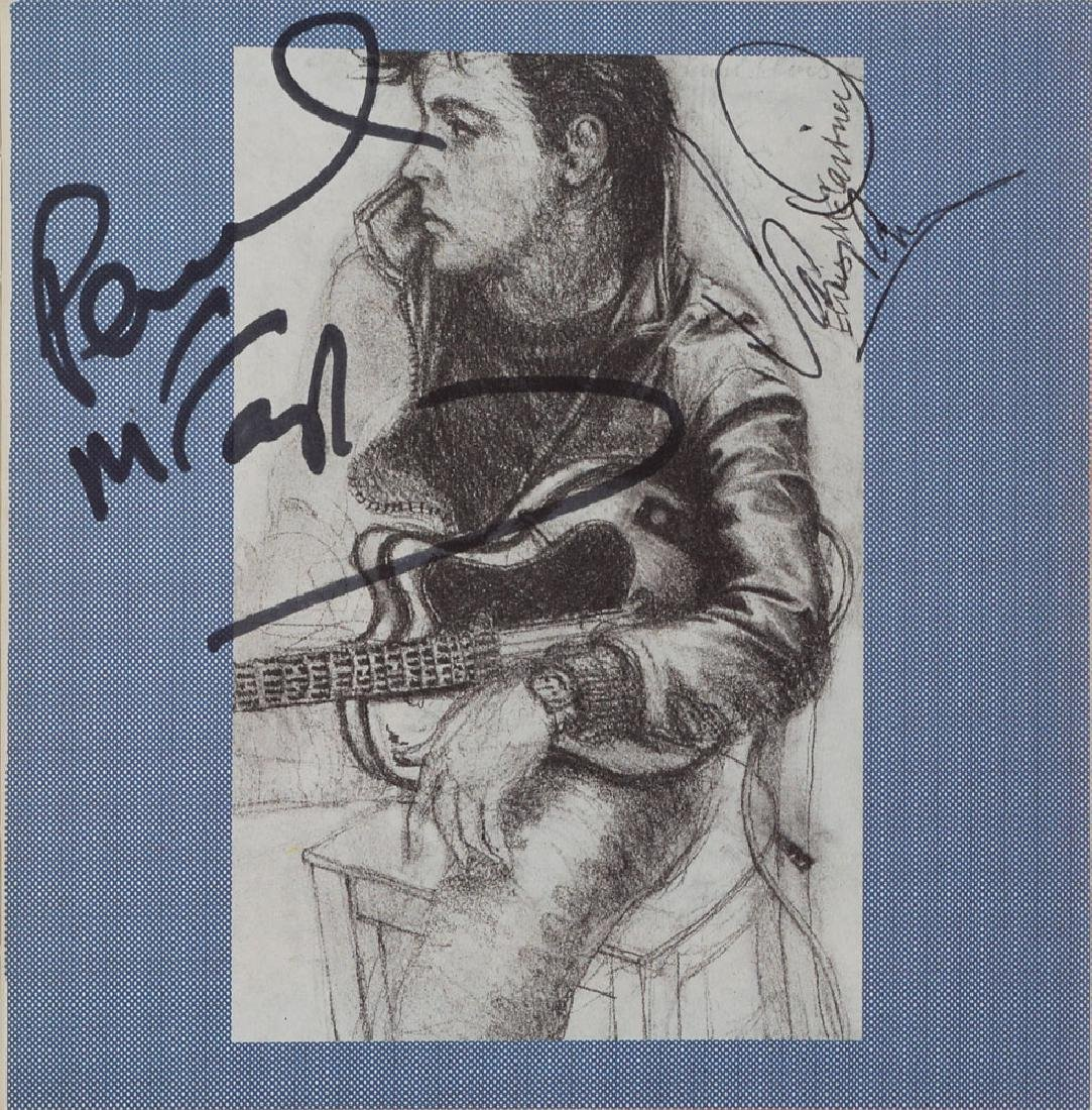 Paul McCartney and David Gilmour Signed Press Pack