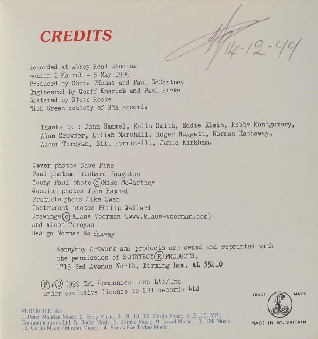 Paul McCartney and David Gilmour Signed Press Pack - 3