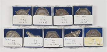 Collection of (109) Space Shuttle Robbins Medallions