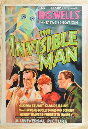 The Invisible Man Original Artwork