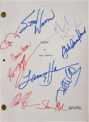 Aliens Signed Script