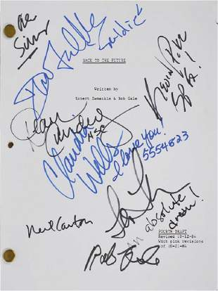 Back to the Future Signed Script
