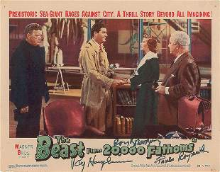 The Beast from 20,000 Fathoms Signed Lobby Card