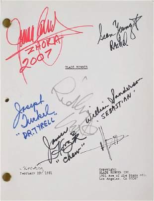 Blade Runner Signed Script